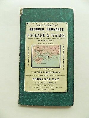 c1860 Cruchley Isle of Wight Hampshire Sussex Sheet 12 IOW Old Antique Map RARE
