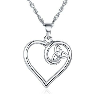 Irish 925 sterling silver knot heart celtic pendant necklace for irish 925 sterling silver knot heart celtic pendant necklace for women love jewe aloadofball Choice Image