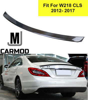 AMG Type Carbon Fiber Rear Trunk Spoiler Boot Wings For Benz W218 ClS AMG 11-13