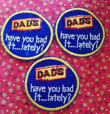3 Vintage Dads Root Beer Soda Distributor Shirt Cloth Patch 1980s have you had