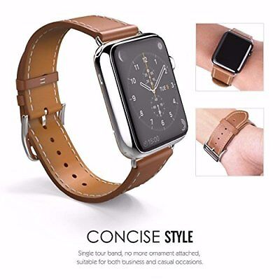 38mm Leather Watch Band Strap For Apple Watch iPhone Smart Watch Series 1 2 3