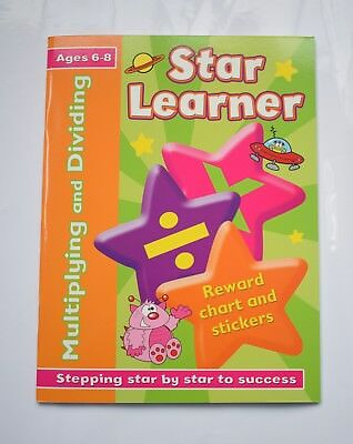 Multiplication Division Maths Activity Book Educational Children age 6 7 8 NEW