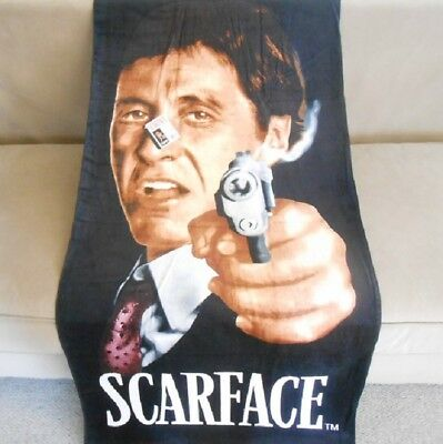 New Scarface Respect Tony Montana Beach Bath Pool Gift Towel Pistol Smoking Gun