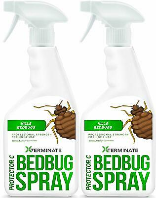 2x 1L Xterminate Bed Bug Killer Spray Professional Strength Formula For Home Use