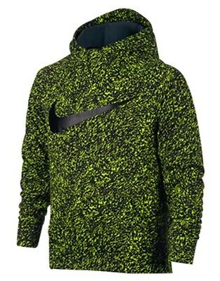 Nike Youth Therma Dri-fit Hoodie Camo Size S Volt Black Jordan Tech Fleece Boys