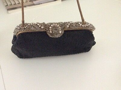 vtg leo miller Hand Beaded Purse/Clutch Made in France handbag castiglione paris