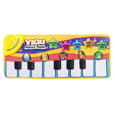 YIQU Baby toys Musical Touch Keyboard Singing Carpet Mat Funny Animal Piano V8S5