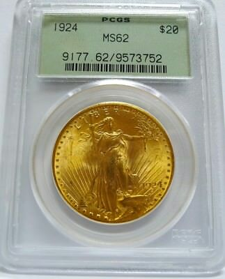 Awesome 1924 $20 Gold St. Gaudens! PCGS Certified MS62! See Photos!  Sweet!