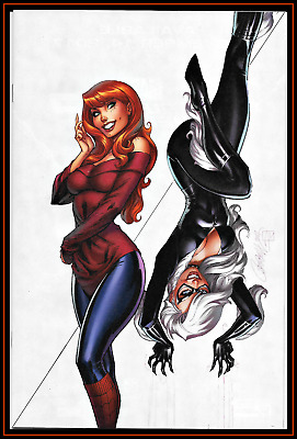 Amazing Spider-Man Renew Your Vows 13 J Scott Campbell Virgin Black Cat Nm/m Hot