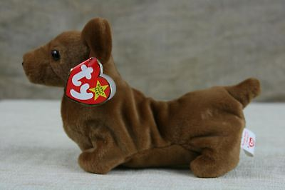 TY Weenie The Dachshund Dog Beanie Babies Rare 1995 WITH TAGS