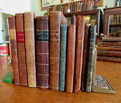 Educational school books 1800's collection 10 old books Noah Webster Geology