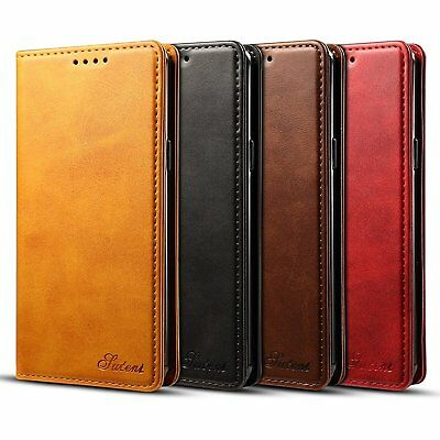 For Samsung Galaxy S9 Leather Magnetic Flip Wallet Case Card Slot Stand Cover