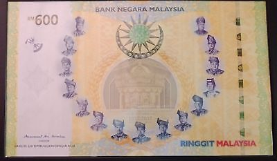 Malaysia RM600 (600 Ringgit) Note with Folder (Largest Banknote in The World)
