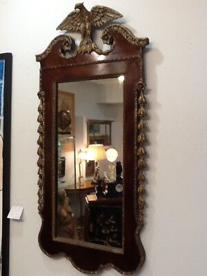 Federal Period Framed Mirror With Eagle 44 Inches