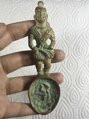 Rare Ancient Byzantine Bronze spoon