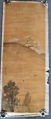 BEAUTIFUL JAPANESE MEIJI c1900 110 CM SCROLL PAINTING - SIGNED MASTER PAINTER