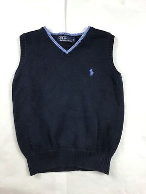 Boys Youth Polo Ralph Lauren Blue Pullover Sweater Vest Size 5