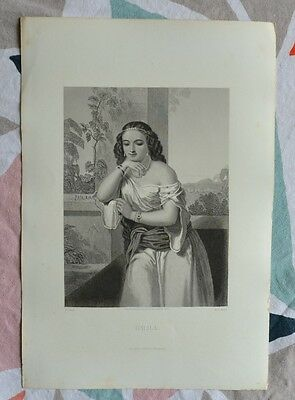 Beautiful Engraving 19th - Delilah - Bible - Religion - Gustave Staal