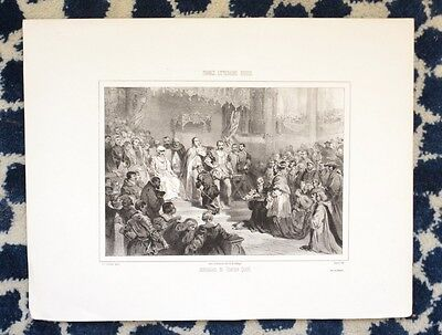 Lithography XIX° th - Abdication Charles Quint - Louis Gallait - Bayot