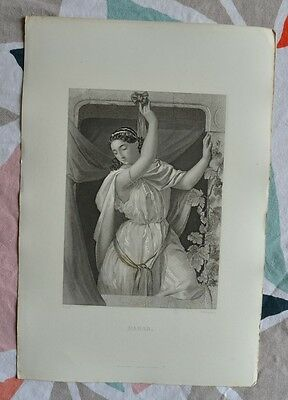 Beautiful Engraving 19th - Rahab - Bible - Religion - Gustave Staal - Egleston