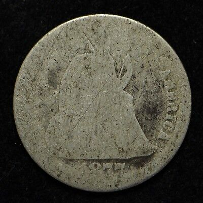 1877-CC Seated Liberty Silver Dime Low Grade (bb832)