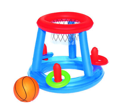Childrens Inflatable Floating BasketBall Hoop Ring Toss Game Swimming Pool Toy