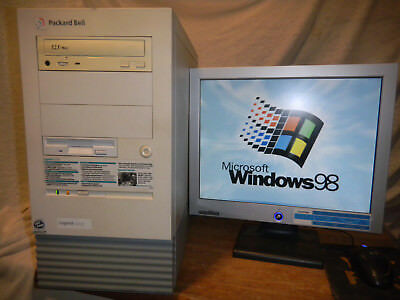 VINTAGE WINDOWS 98 SE TRUE DOS DELUXE Gaming Computer PC - Packard Bell  Legend!