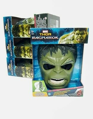 NEW BOXED Marvel Moveable HULK OUT MASK From Thor Ragnarok