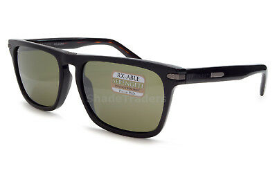 Serengeti Carlo Sunglasses Shiny Black Polarized Photochromic Green 555Nm 8158
