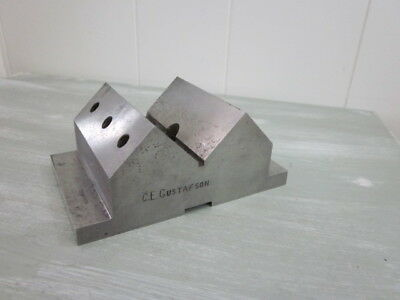Precision Drill Press V Block & Clamp Fixture Hardened, Machinist,Toolmaker