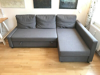 friheten eckbettsofa mit bettkasten dunkelgrau ikea gut erhalten eur 3 50 picclick de. Black Bedroom Furniture Sets. Home Design Ideas