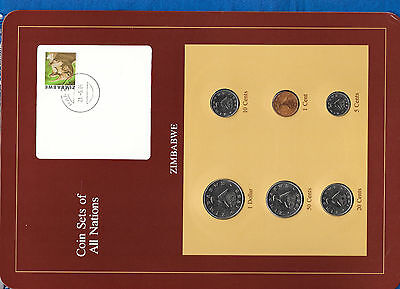 Coin Sets of All Nations Zimbabwe UNC $1, 50,10,5 Cents 1980 1,20 cents 1983