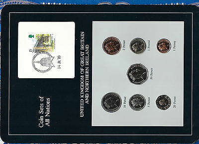 Coin Sets of All Nations Great Britain UNC 1988-89 1£, 2,10, 20, 50 pence 1989