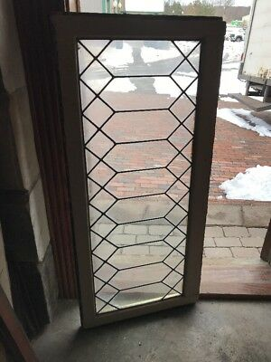 SG 2150 antique geometric transom window leaded glass 21 x 46.75
