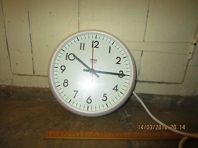 Vintage Smiths Delhi wall clock.9 in. dial. White Smiths School / Office clock