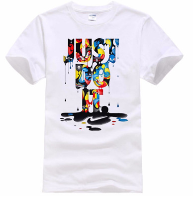 2018 New Fashion Just Do It T shirt Brand Clothing Hip Hop Letter Print T shirt