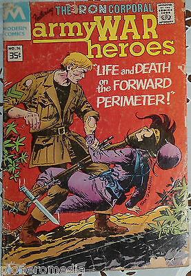MODERN COMICS. THE IRON CORPORAL. ARMY WAR HEROES No.36 paperback English 1978