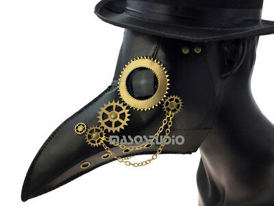 Plague Doctor Long Nose Beak Mask Costume Cosplay Dress up Halloween Prom Party