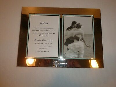 """Lenox Kate Spade Silver Tone Double Wedding Photo Frame, """"Happily Ever After"""""""