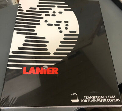 "Lanier Transparency Film 100 Sheets 8.5""x11"" #108-0540  For Plain Paper Copiers"