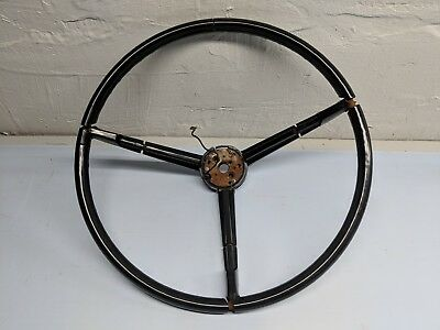 MOPAR 1967-1970 A-body B-body Black 3-spoke Steering Wheel