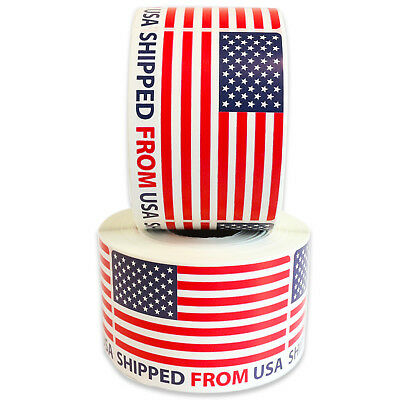 """Milcoast """"Shipped From USA"""" Label Stickers (1000 2"""" x 3"""" Labels)"""