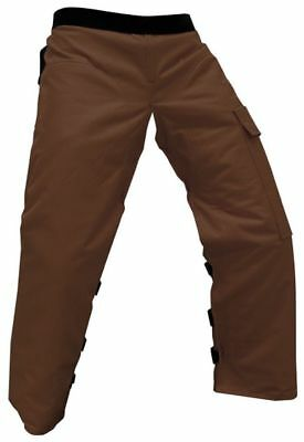 """FORESTER™ Brown Chainsaw Chaps 37"""" Length (Regular)     BRCHAP-437"""