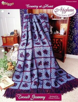 Hearts on Velvet Afghan TNS Country at Heart Crochet Pattern//Instructions NEW