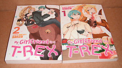 My Girlfriend is a T-Rex Vol.1,2 Manga Graphic Novels Complete Set English