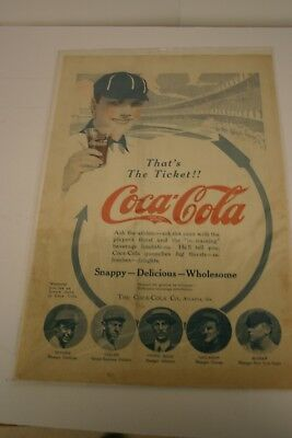Vintage Original Coca-Cola Ad from American Boy Magazine August 1914