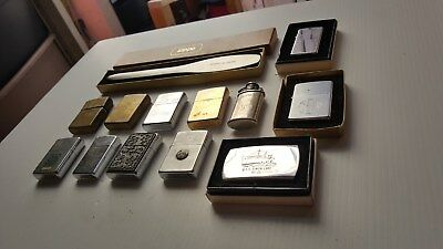Lot of 11--Vintage Zippo Cigarette Lighters  1-Letter Opener one belt buckle