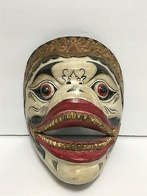 Antique Thai Masks with Gold Marker seal , Handmade early 19th century.