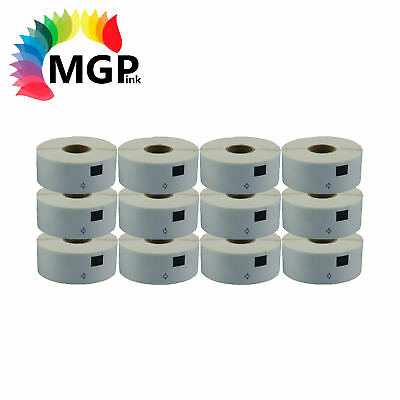 12 Compatible for Brother DK11204 Refill only Label 17mm x 54mm QL500/550 QL700