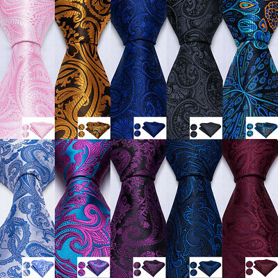 New Classic Silk Mens Tie Necktie Paisley Floral Novelty Jacquard Woven Wedding